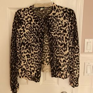 J Crew Animal Print cardigan with buttons